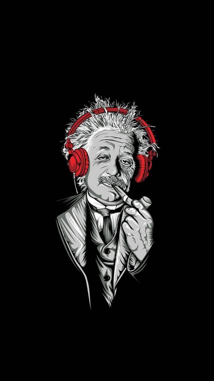 Einstein Black phone wallpaper Graffiti wallpaper Art 720x1280
