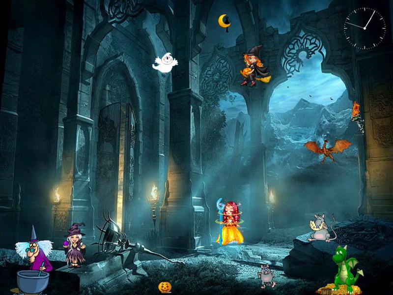Halloween Screensaver   Funny Halloween   FullScreensaverscom 800x600