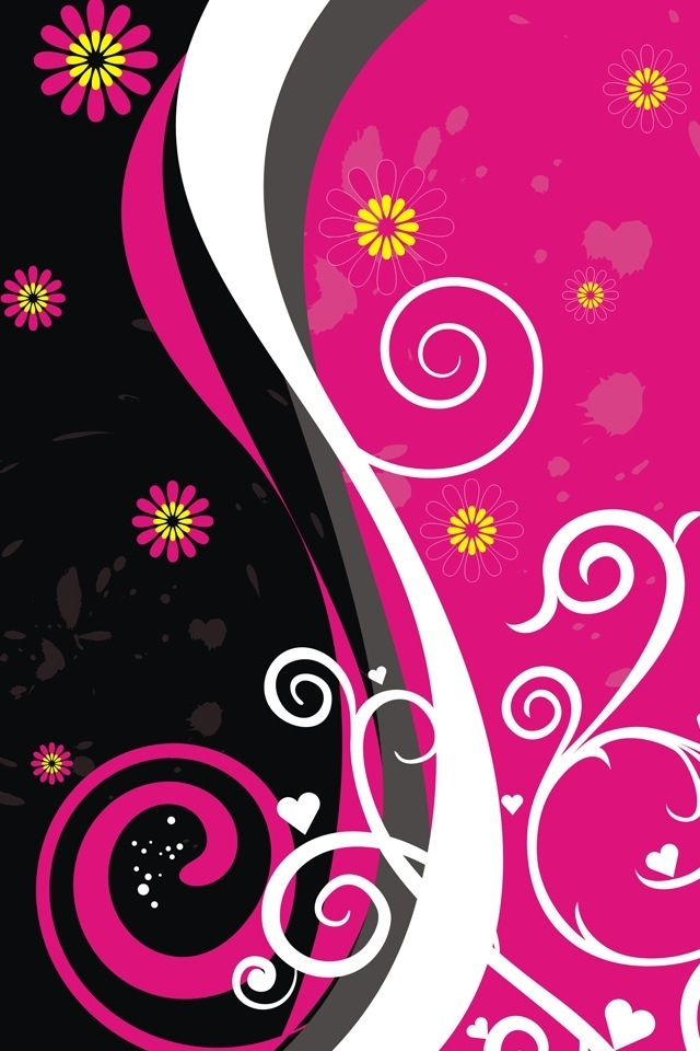 Wallpaper Love Pink Black : Black and Pink Wallpaper - WallpaperSafari