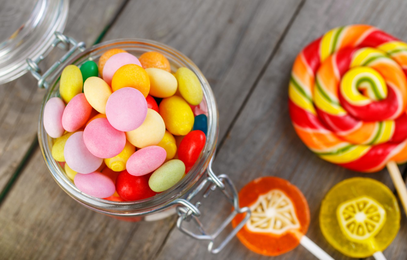 Wallpaper colorful candy sweets lollipops sweet candy 1332x850