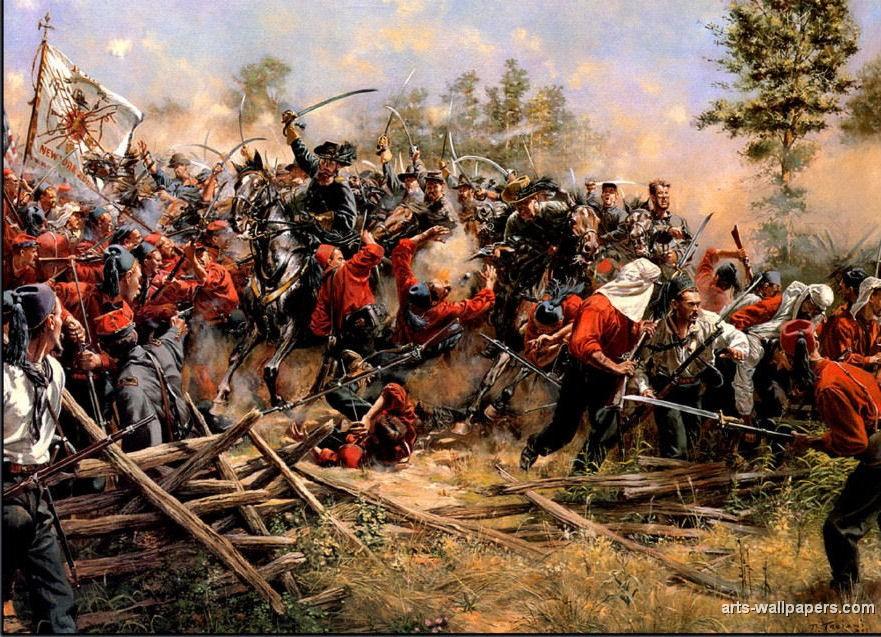 American Civil War Paintings Art Prints Gallery Pictures Artworks 881x637