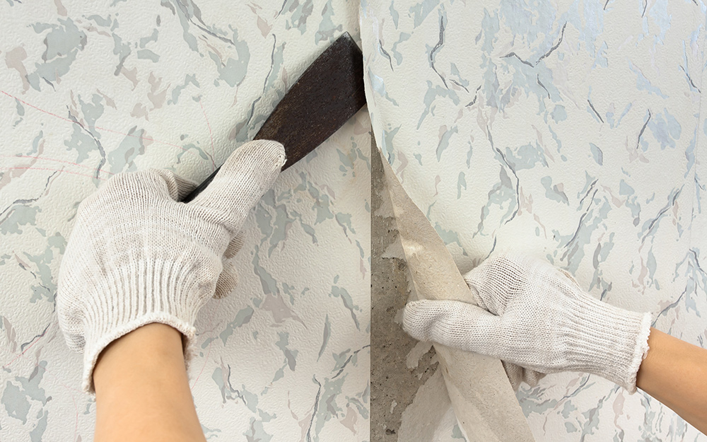 How to Remove Wallpaper   The Home Depot 1000x625