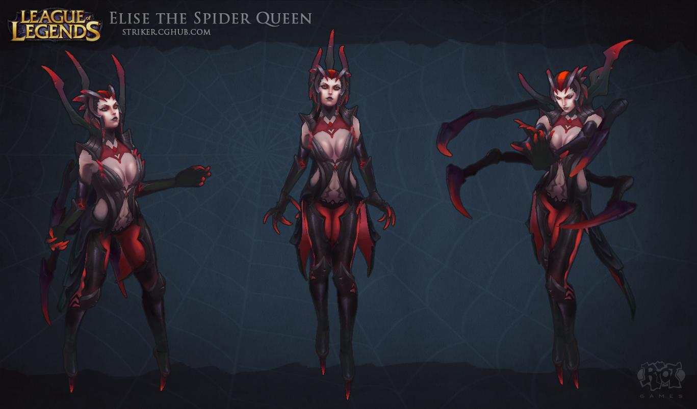 Image   Elise SpiderQueen renderjpg   League of Legends Wiki 1367x803