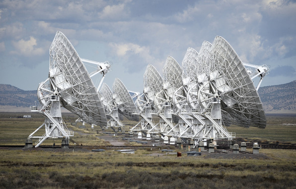 New mexico sky technology antenna radio telescope wallpapers 596x380