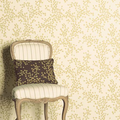 Modern wallpaper Pretty delicate leaf print neutral palette 500x500