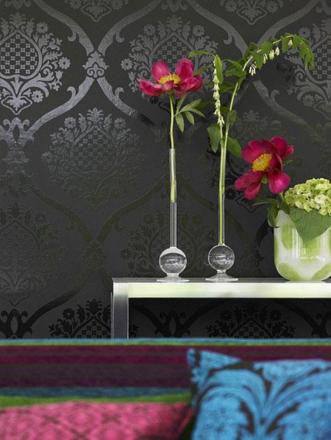 Gray Dark Wallpaper and Flowers Picsdecorcom 470x626