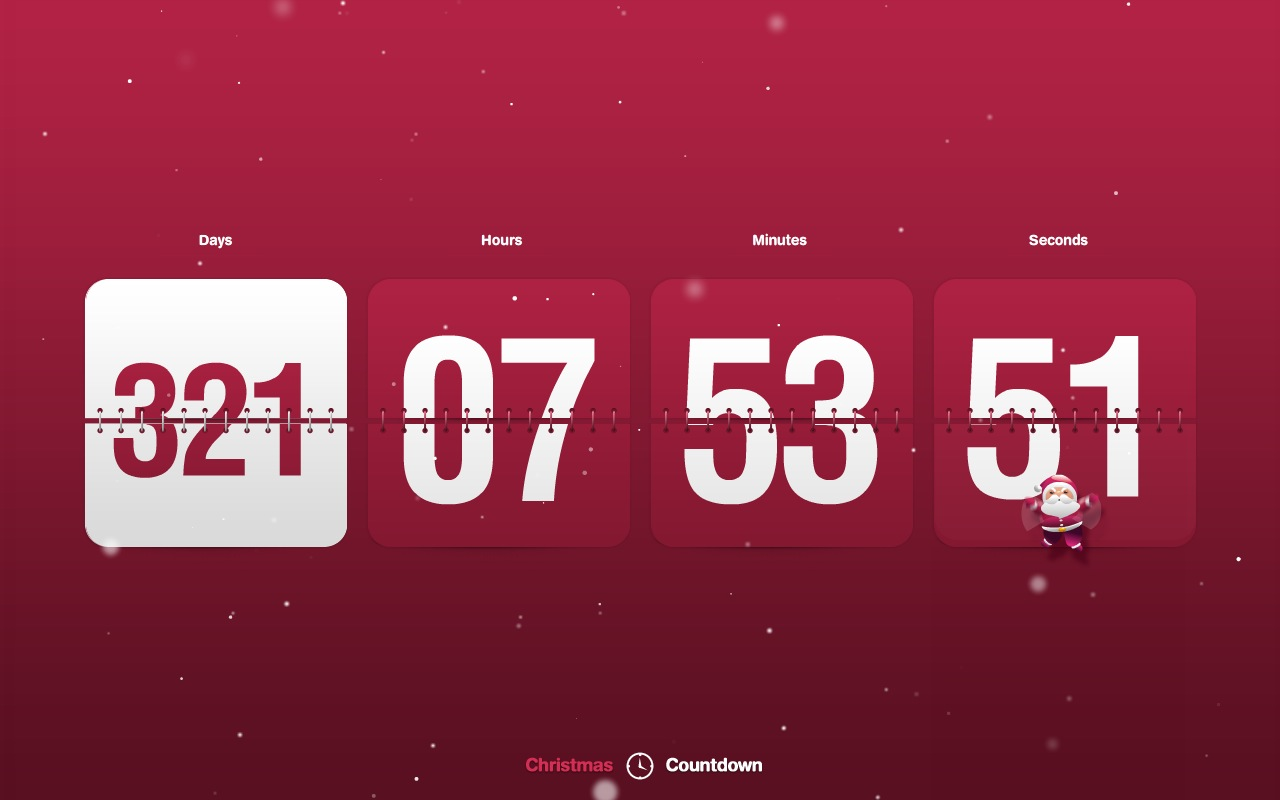 New Year Countdown Clock screensaver on   downfocuscom 1280x800