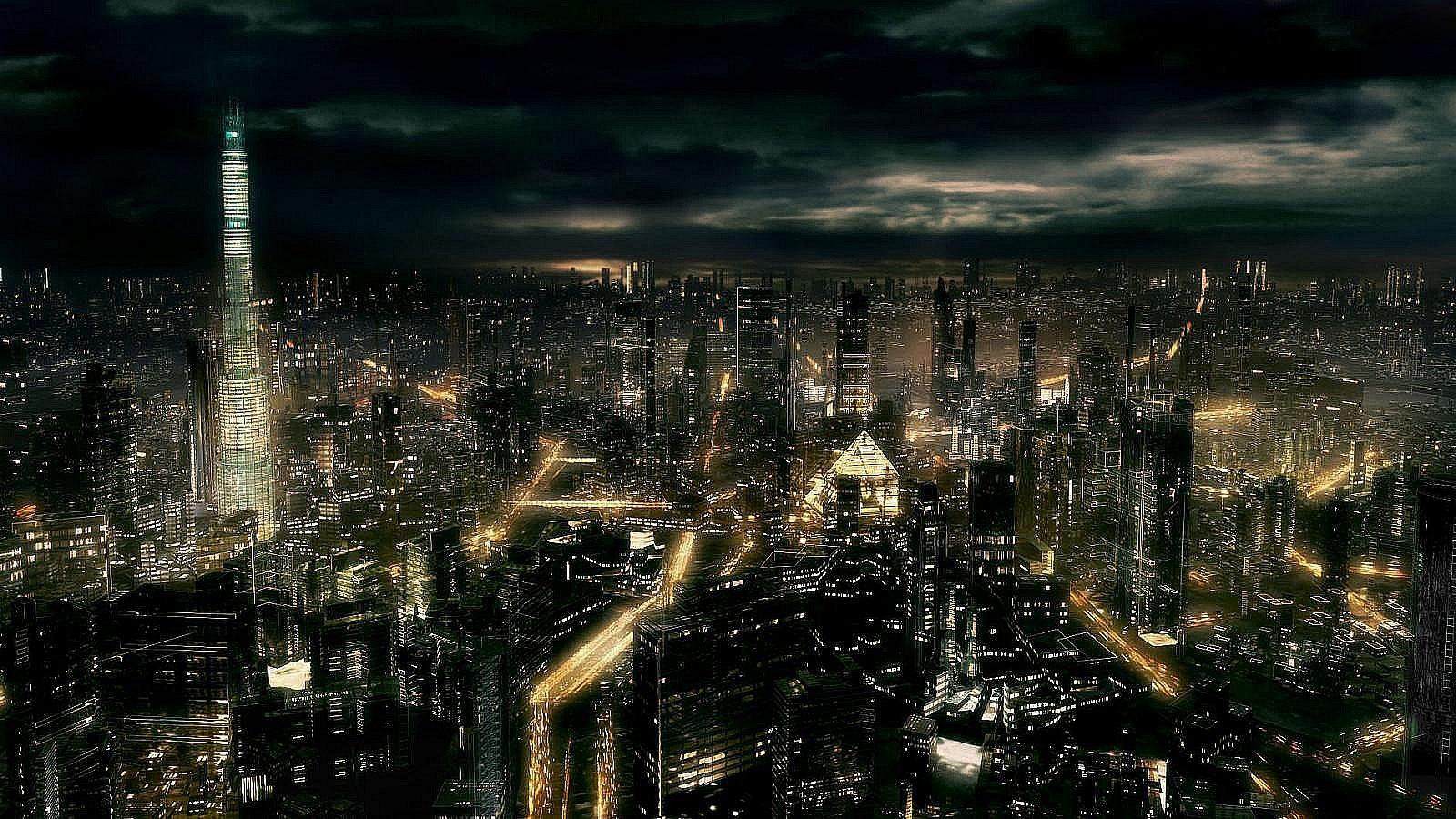 Dark City All Night Hd 1600x900 pixel City HD Wallpaper 34555 1600x900