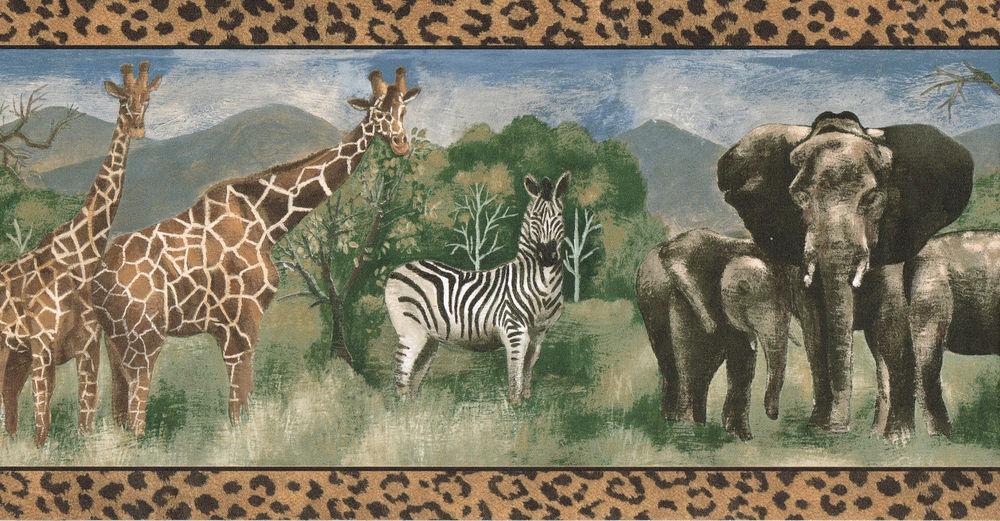 Elephant Wallpaper Border Wallpapersafari