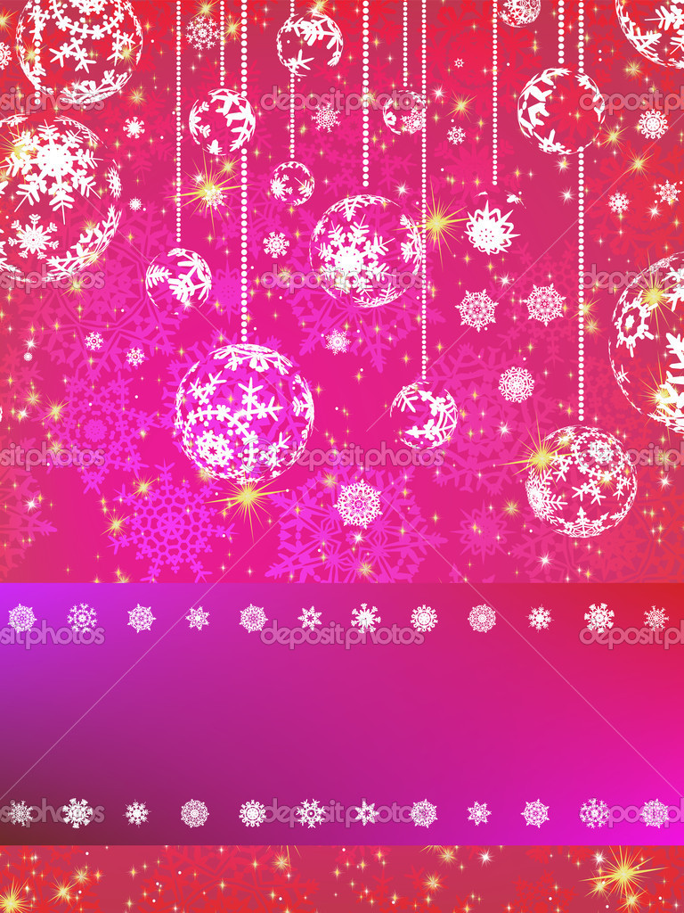 Pink Christmas Backgrounds Wallpapersafari