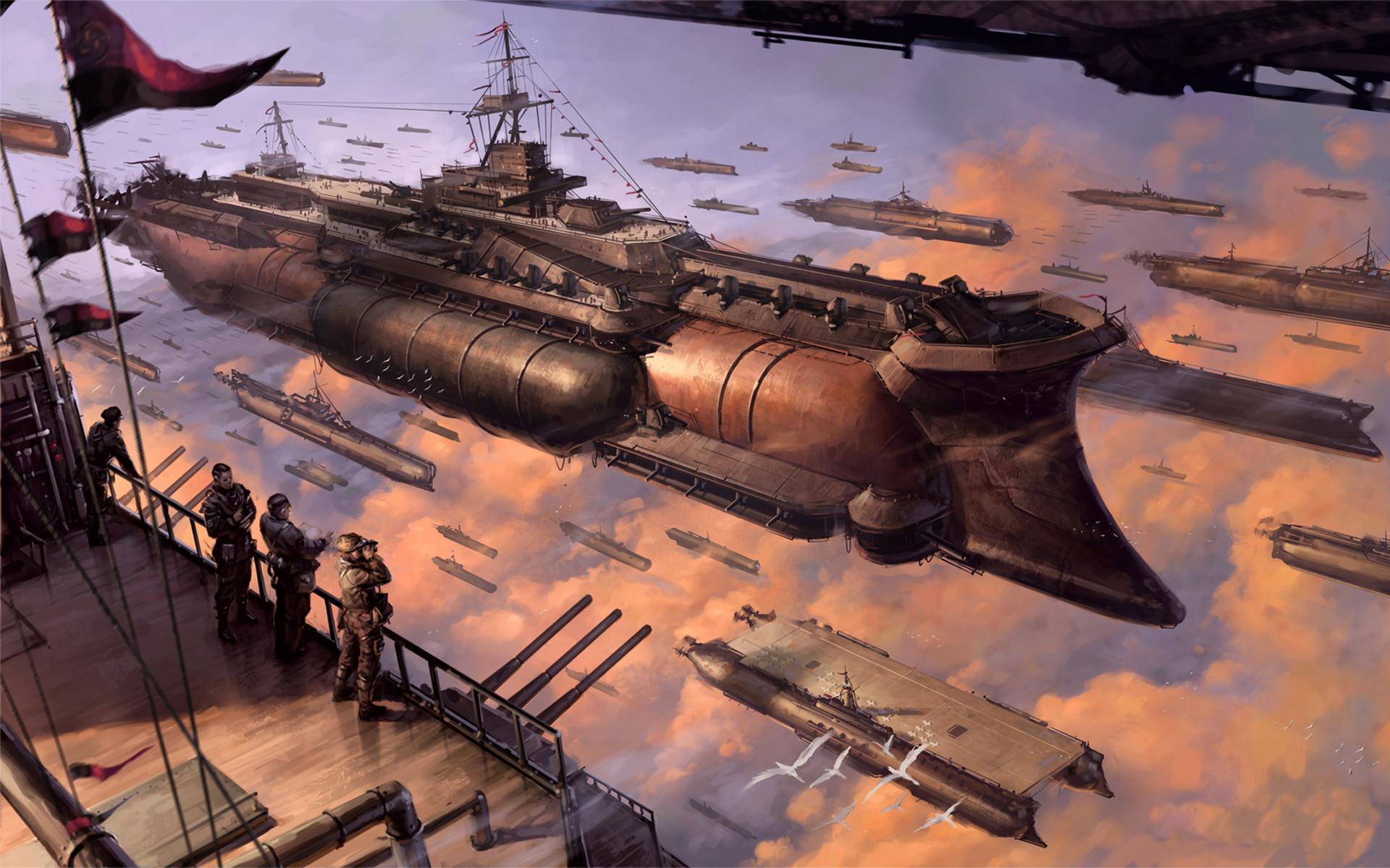 Sci Fi   Steampunk Battleship Last Exile Wallpaper 1920x1200