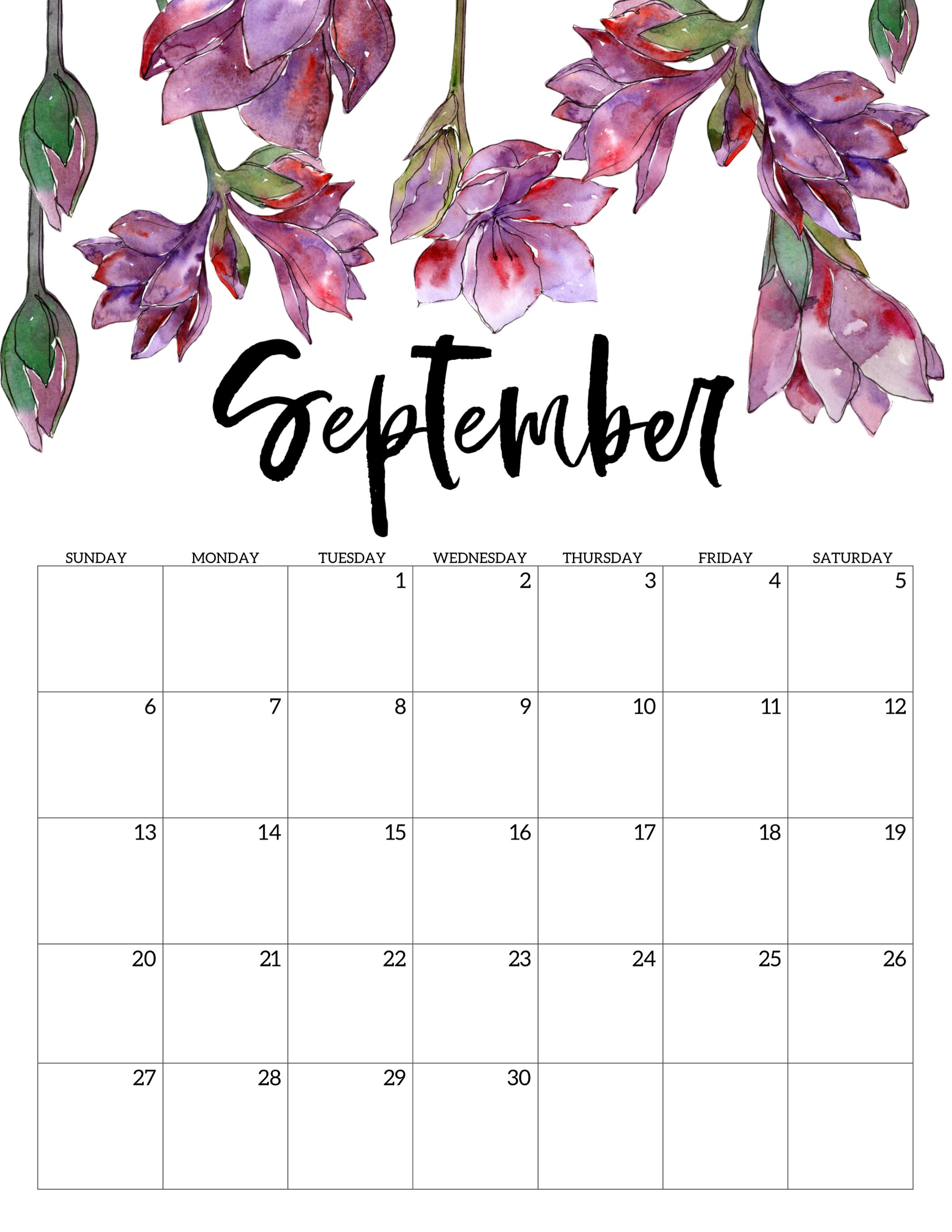 Cute September 2020 Calendar 2020 Calendar 2125x2750