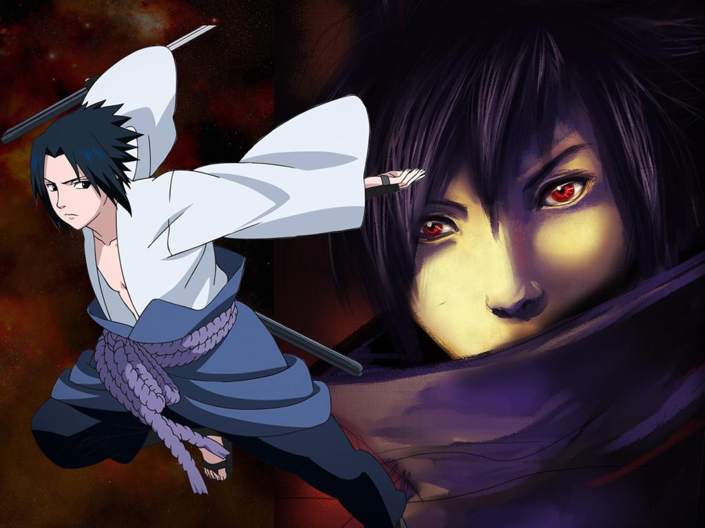 sasuke part 2 sasuke with samurai cool sasuke wallpaper 1024x768