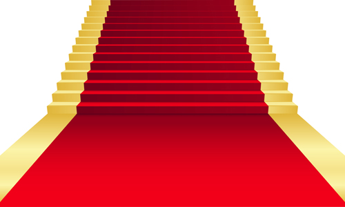 Ornate Red carpet backgrounds vector material 02   Vector Background 500x300