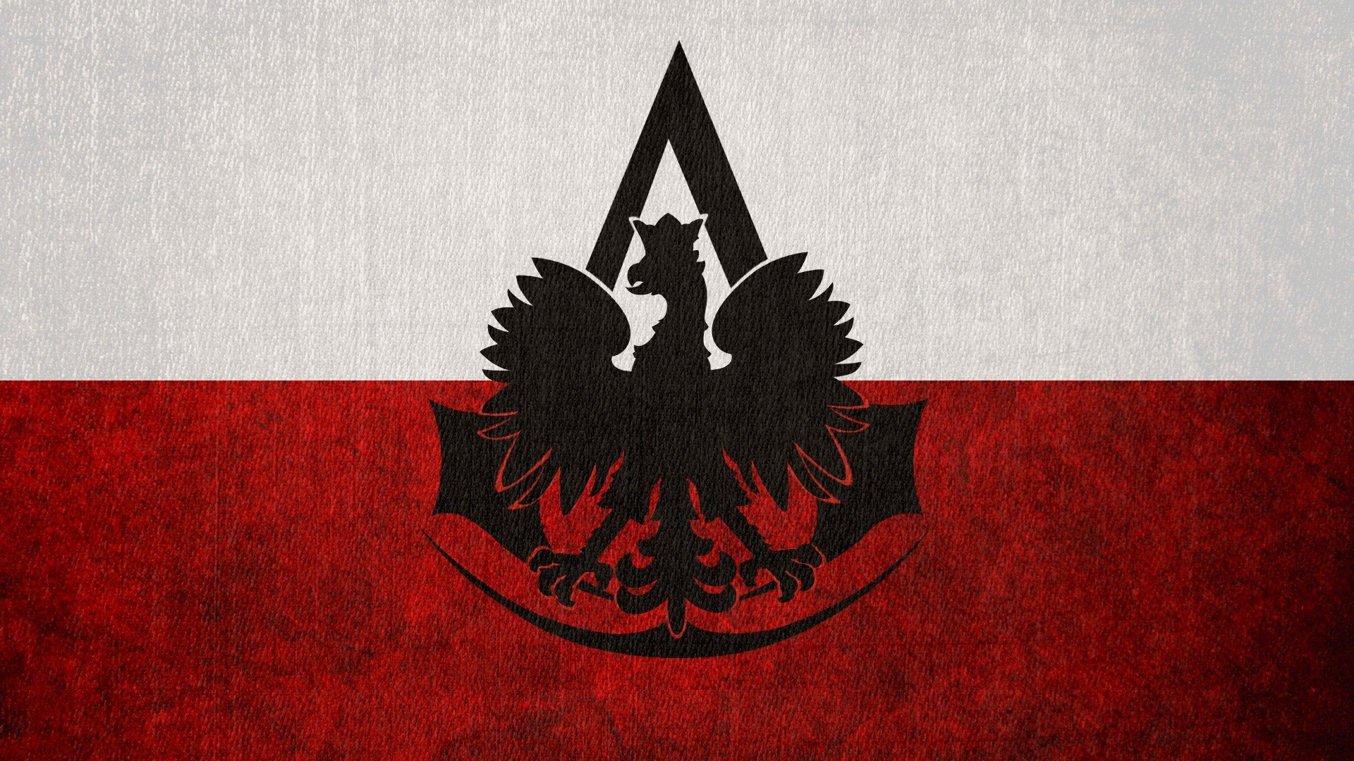 Assassins Creed flags Poland logos Polish Flag Polish eagle 1920x1080