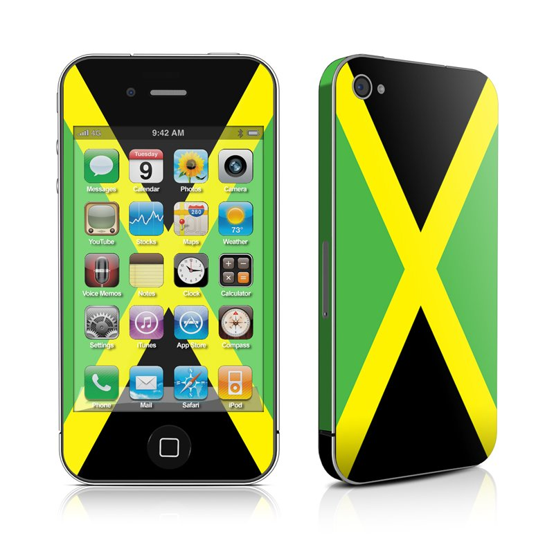 iPhone 4 Skin   Jamaican Flag by Flags DecalGirl 800x800