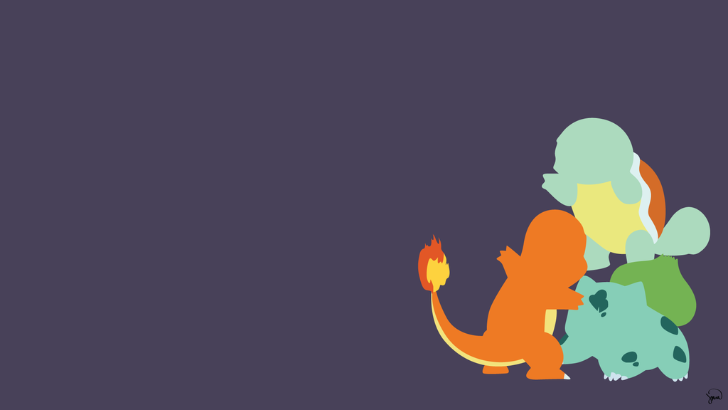 Pokemon minimalist wallpapers wallpapersafari for Deviantart minimal wallpaper