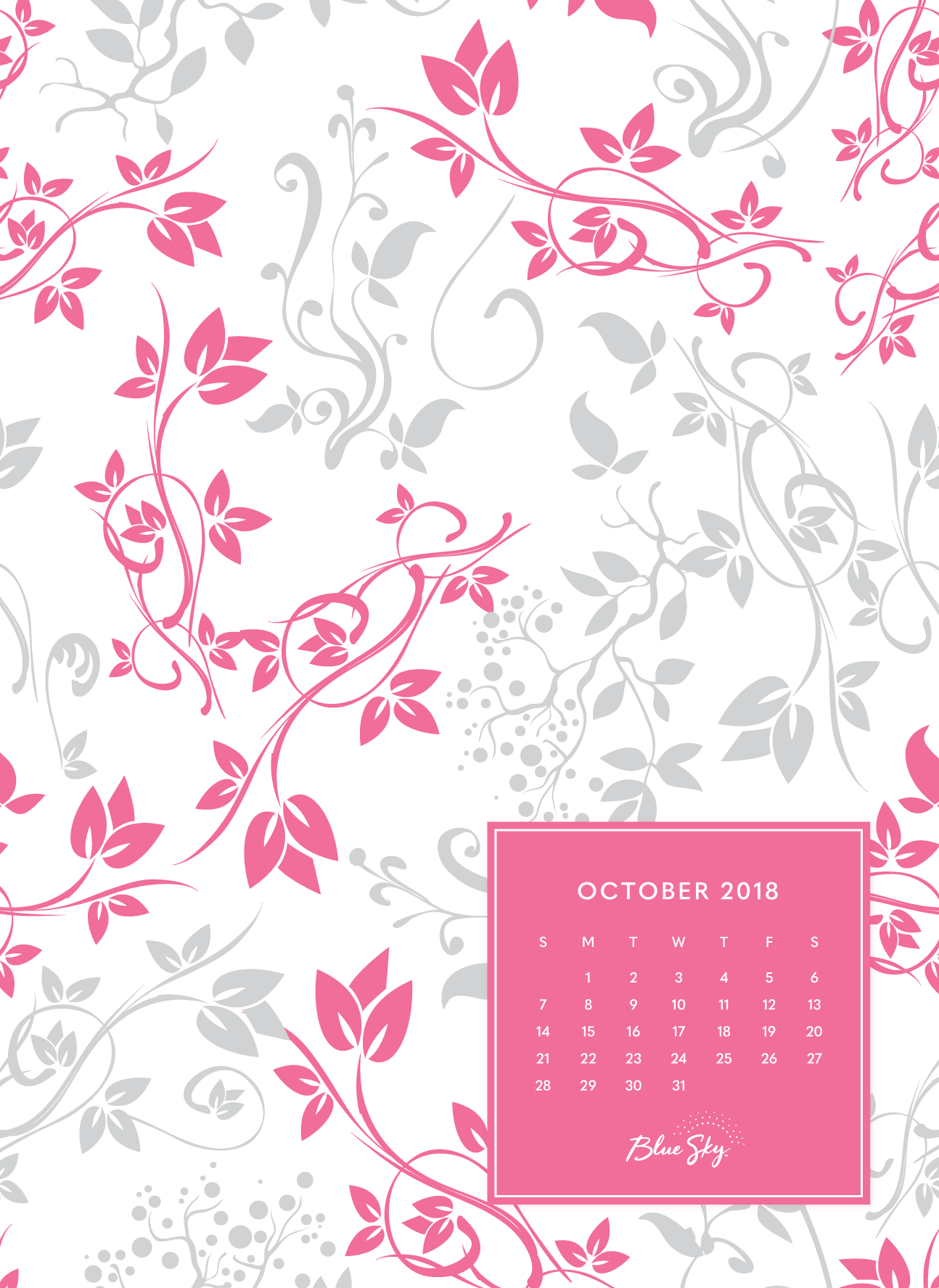 40+] October 2019 Calendar Wallpapers