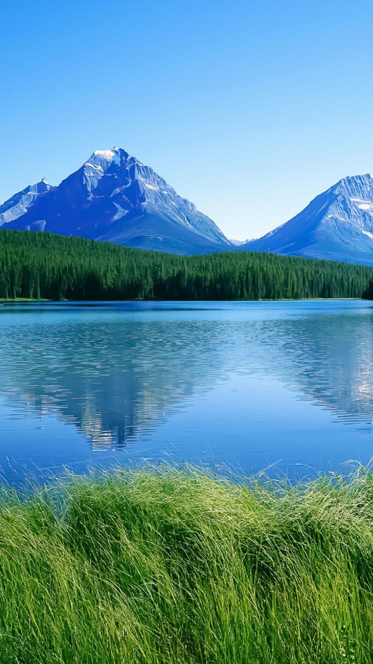 HD 540x960 blue mountain lake sony xperia wallpapers mobile background 540x960