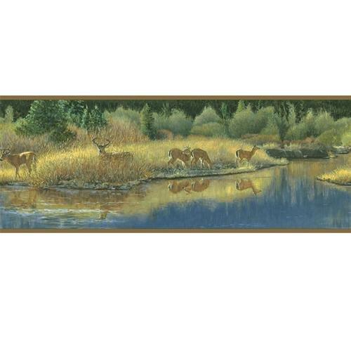 deer wallpaper border Deer Valley Wallpaper Border 500x500