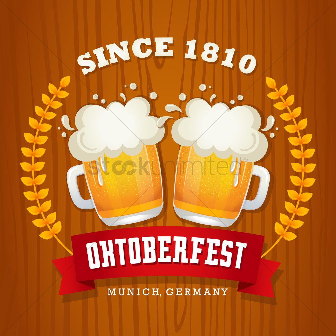 Oktoberfest wallpaper Vector Image   1480678 StockUnlimited 1300x1300