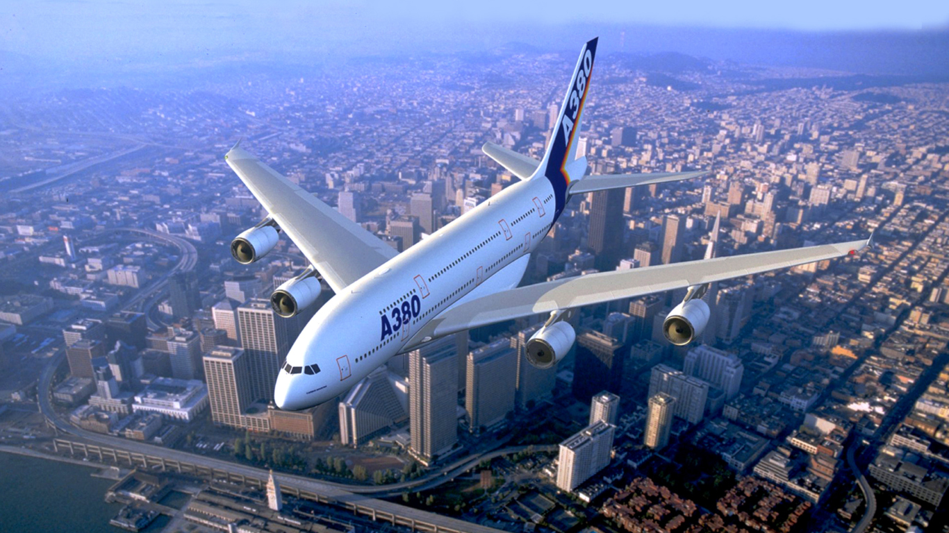 Airbus A380 Wallpaper for 1366x768 1366x768