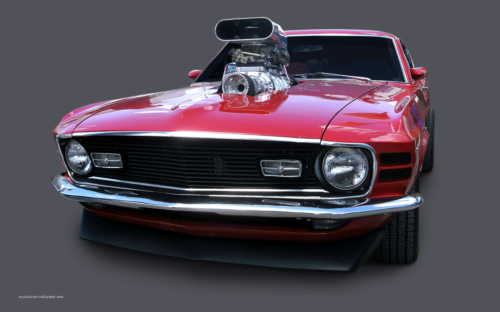 1970 Mustang Mach1 Wallpaper   Red Fastback 1680x1050 08 1680x1050