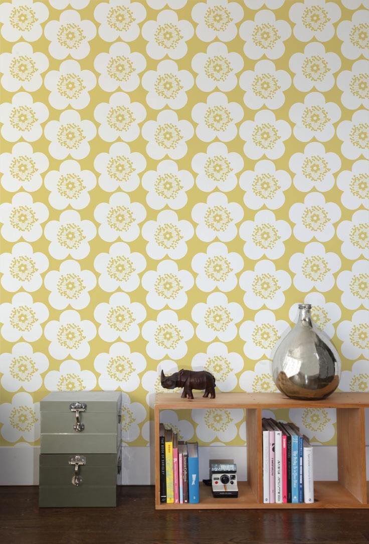 bold floral wallpaper 2015   Grasscloth Wallpaper 736x1085