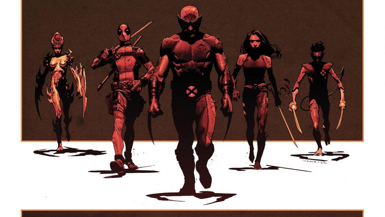 X Men Wolverine Deadpool Wade Wilson Psylocke X Force Nightcrawler 1244x700