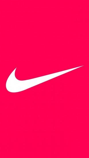 logos more search nike iphone wallpaper tags brands logo nike pink 310x550