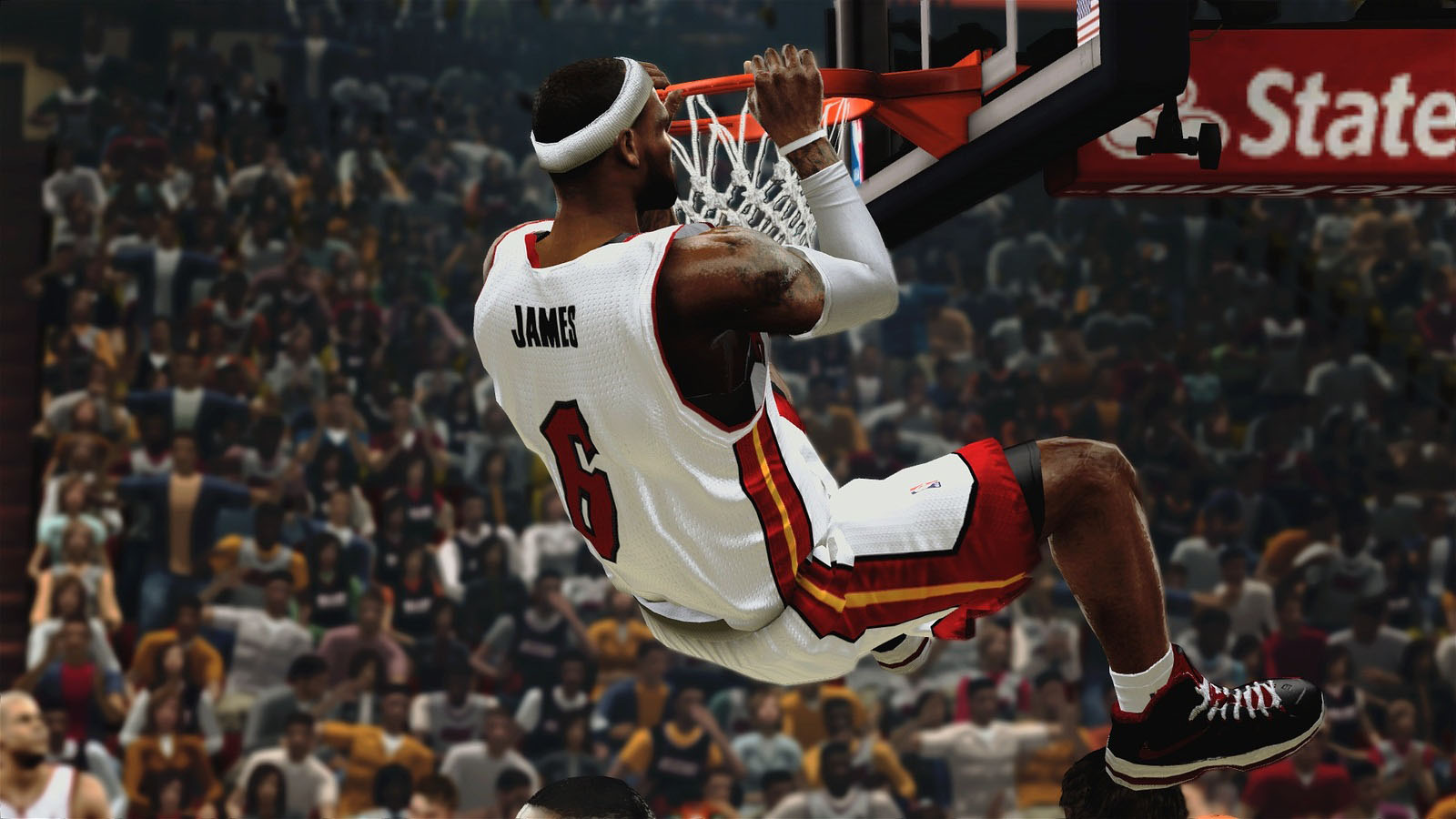 LeBron James dunking NBA 2K14   1600x900   Wallpaper 3607 on 1600x900
