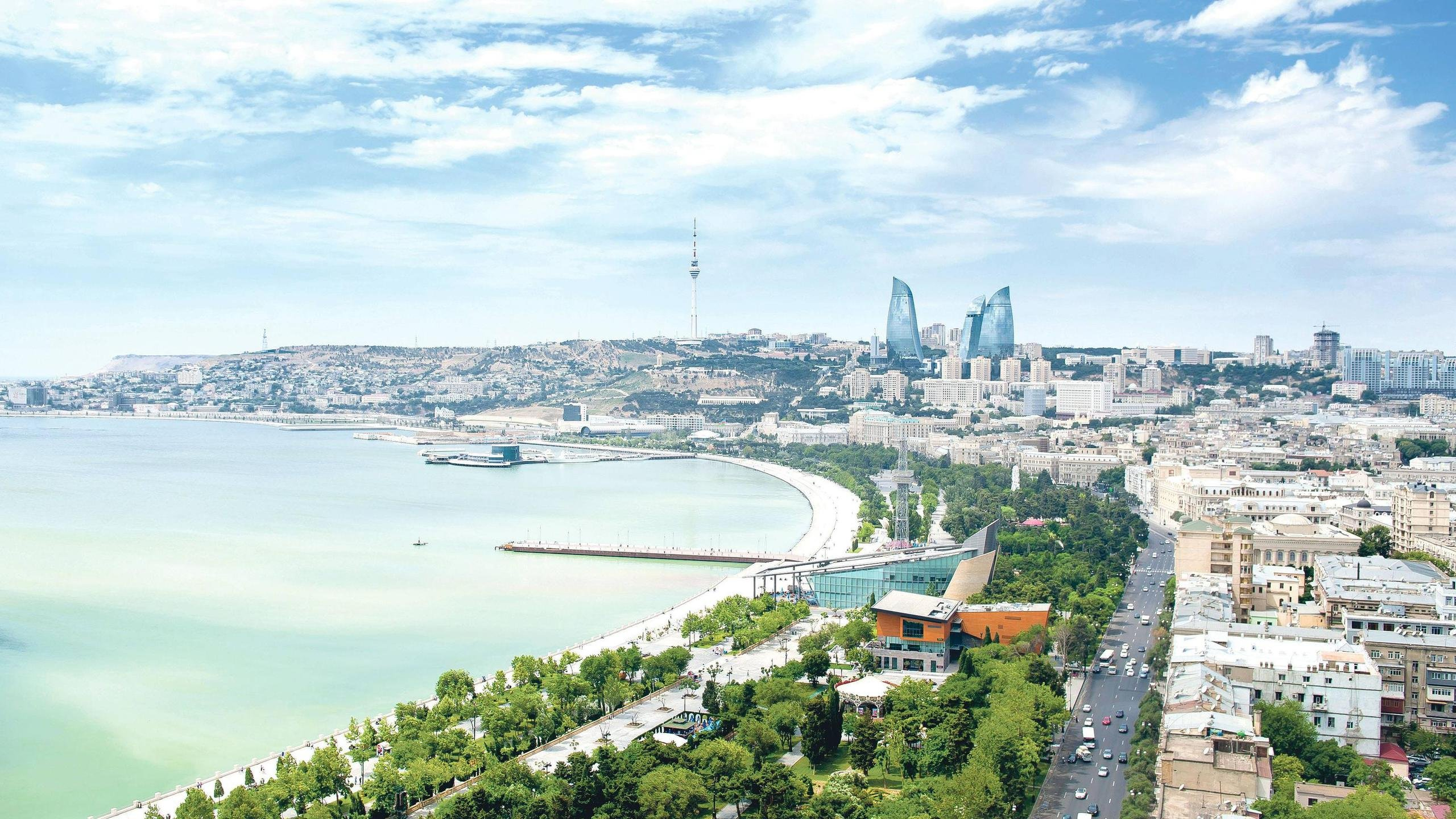 Baku Azerbaijan HD wallpaper 2560x1440