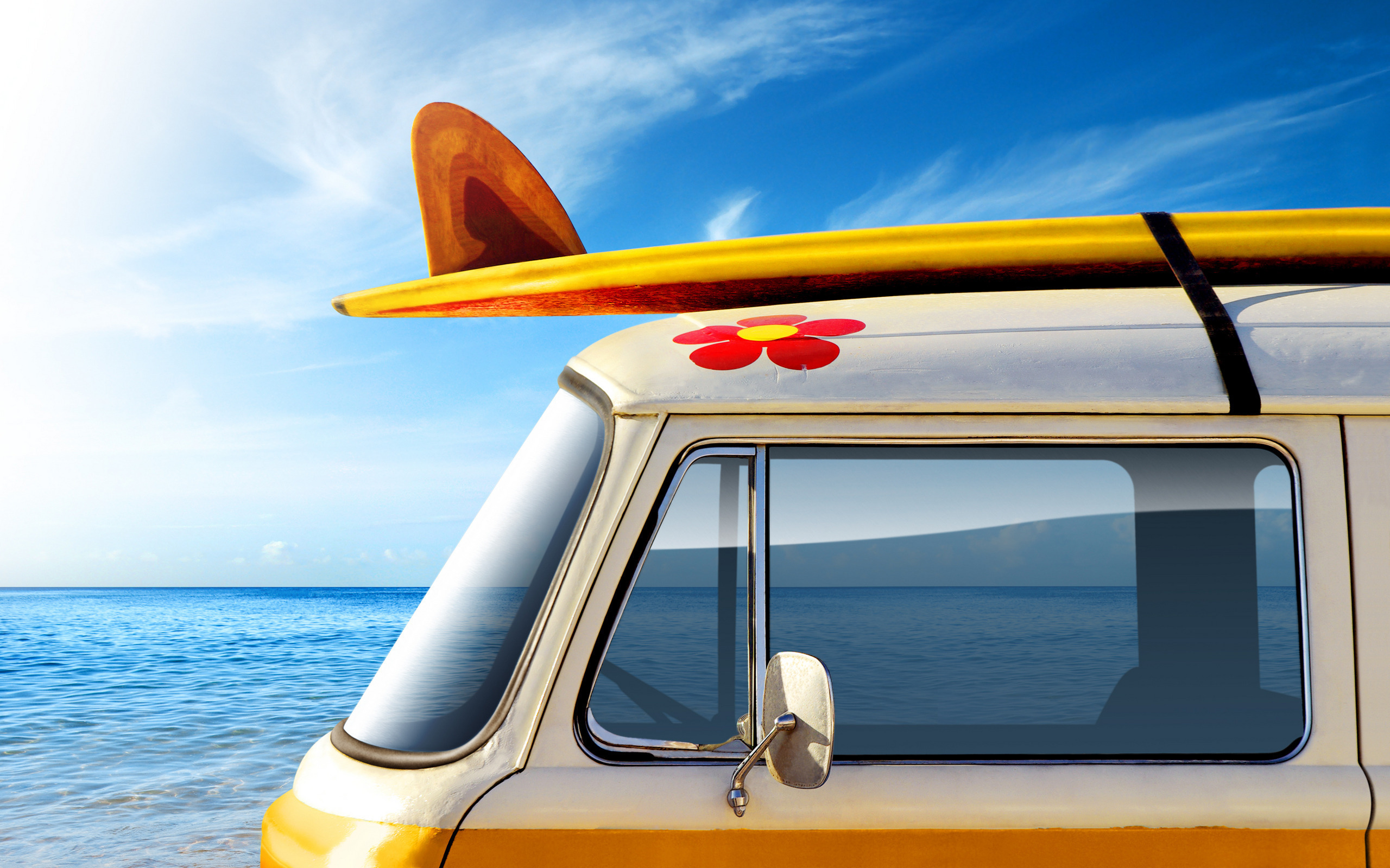Surfboard Wallpaper Desktop summer mood car HD Desktop Wallpapers 2560x1600