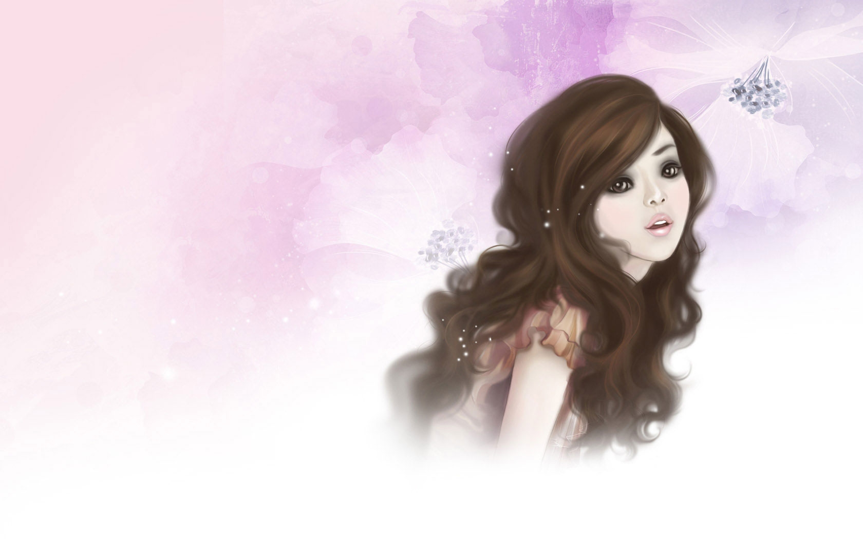 Image Pretty Cartoon Girl wallpapers and stock photos 1680x1050