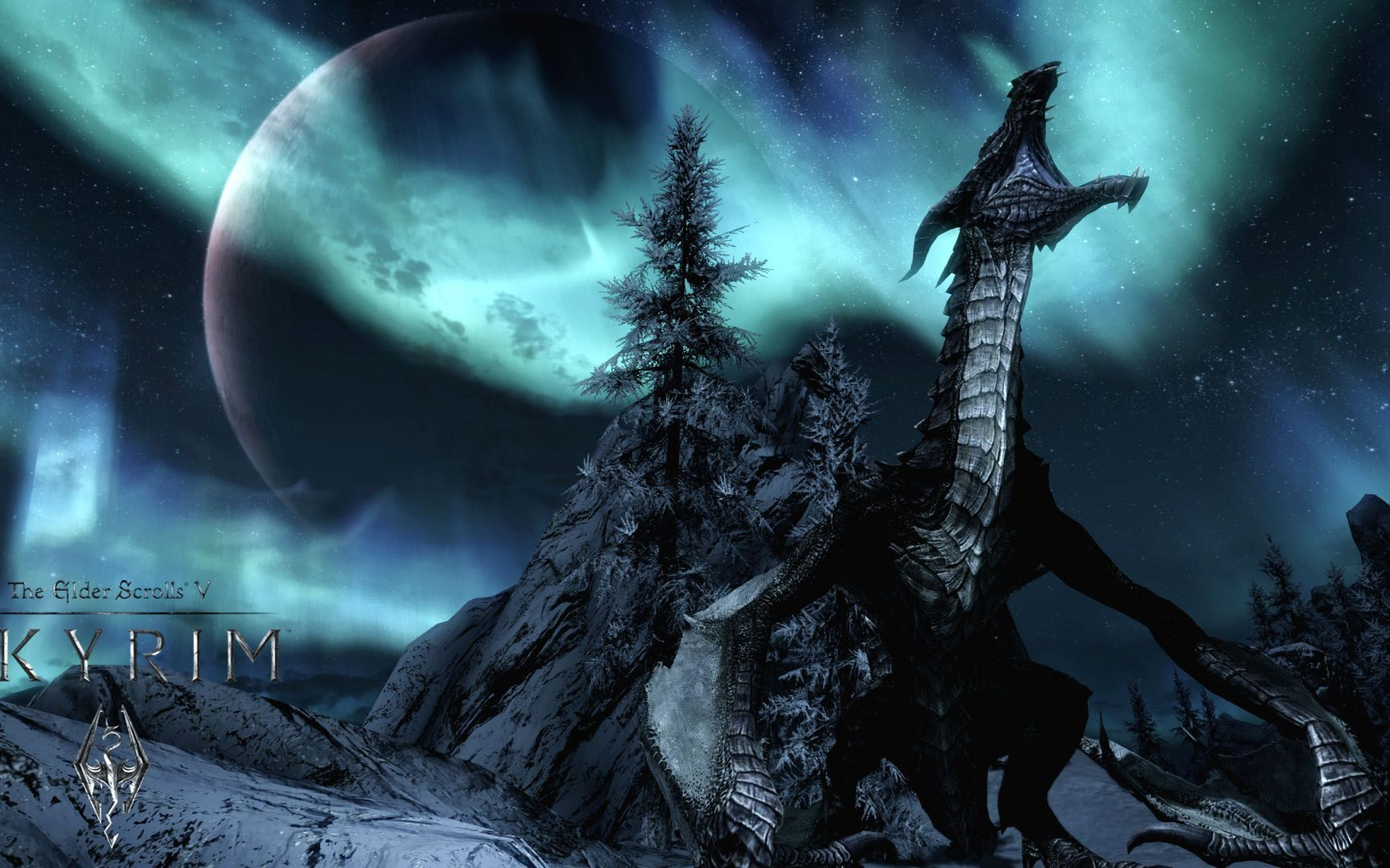 Dragon Skyrim Wallpaper HD Wallpapers Backgrounds Images Art 2880x1800