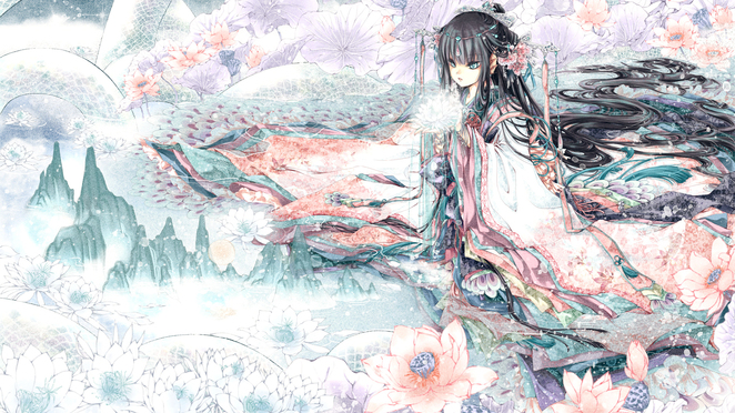 Anime Kimono Girl Wallpaper 1080p from Shadow of Death   hosted by 662x372