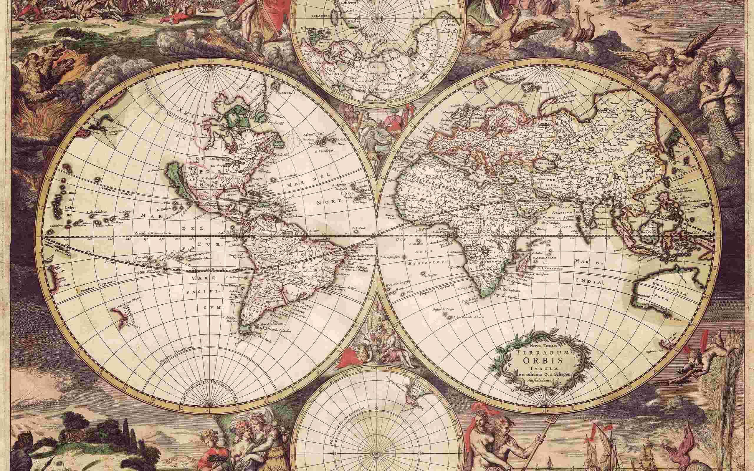 World map computer wallpaper wallpapersafari old world map 1689 wallpaper unsorted other wallpaper gumiabroncs Choice Image