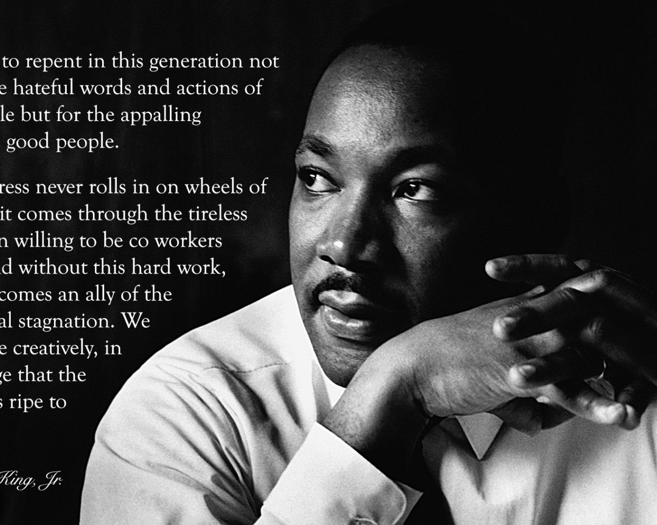 hd quotes Martin Luther King Martin Luther King Jr Quotes 1280x1024