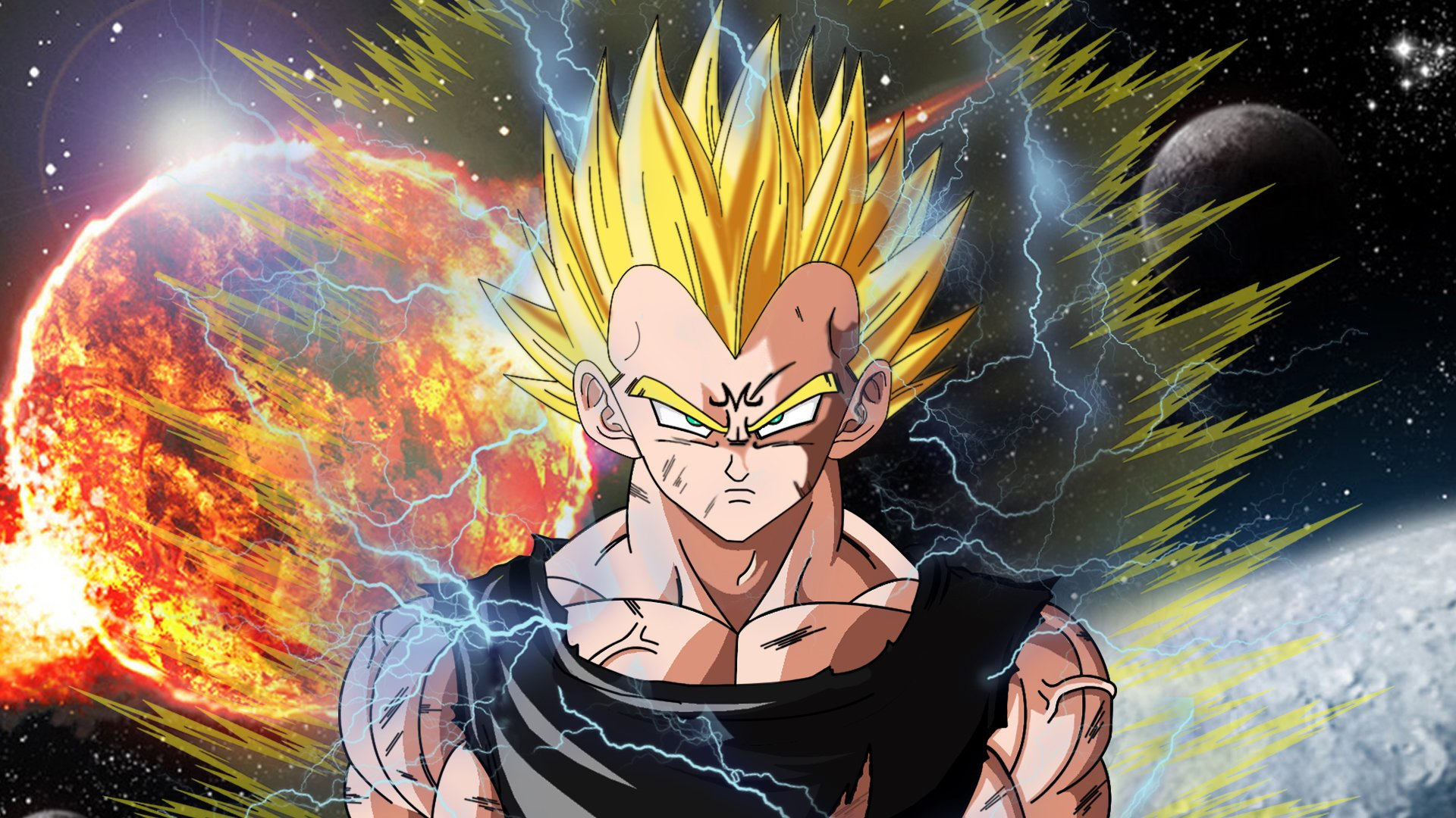 High Resolution Dragon Ball Z Super Saiyan Vegeta Wallpaper HD 3 1920x1080
