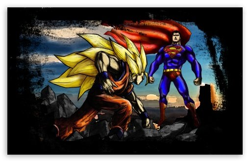 Superman VS Goku HD wallpaper for Standard 43 54 Fullscreen UXGA XGA 510x330