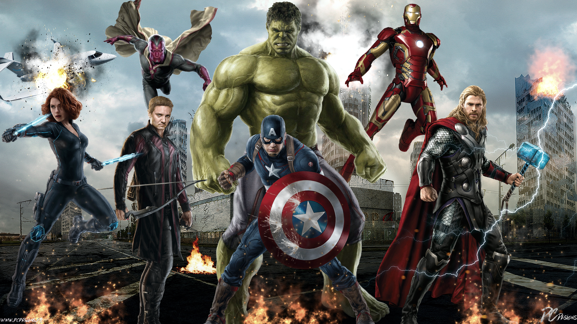 Movie Avengers Age Of Ultron Age Of Ultron Marvel Poster Fan Art The 1920x1080