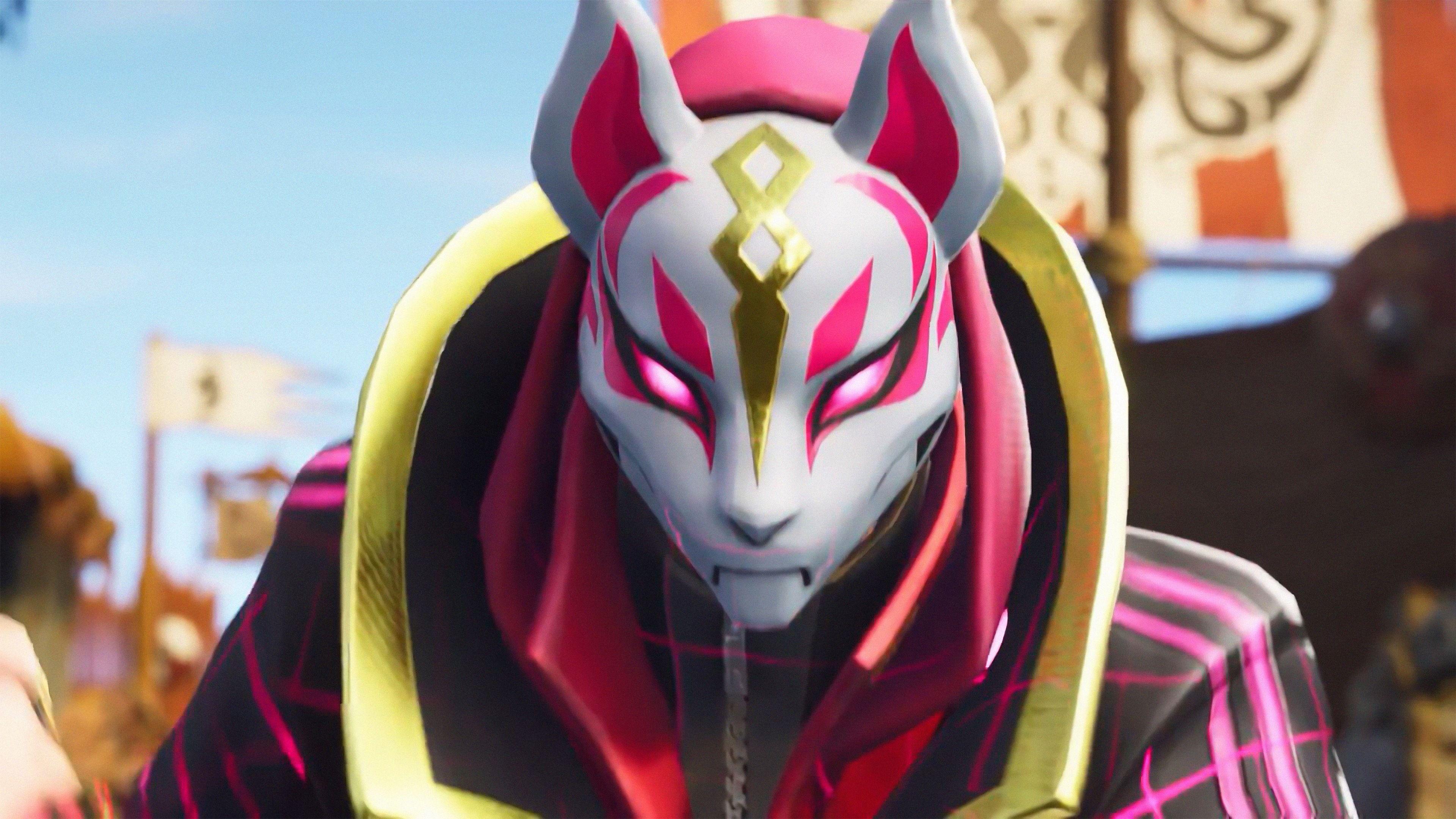 Drift Kitsune Mask Fortnite Battle Royale Video Game 3840x2160 3840x2160