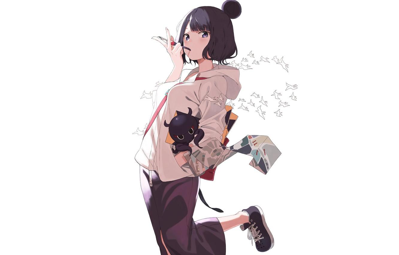 Wallpaper white girl background Foreigner Katsushika Hokusai 1332x850
