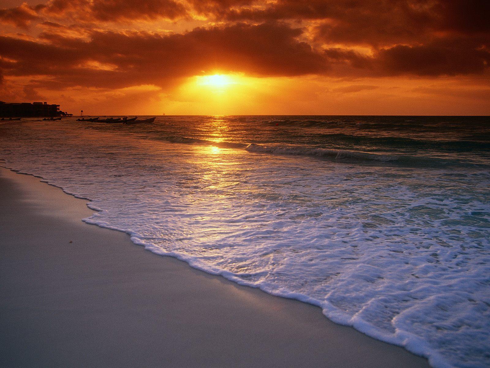 Best Sunset Beach Desktop Wallpaper Best Sunset Beach Desktop 1600x1200