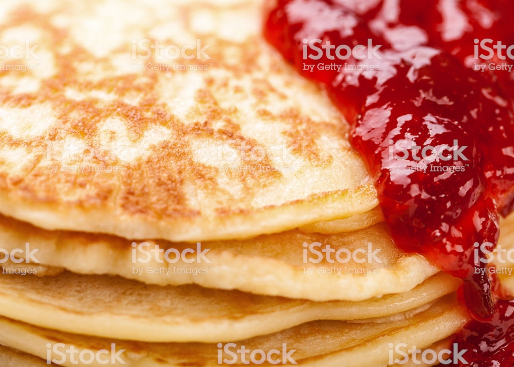 Pancakes Background With Strawberry Jam Stock Photo   Download 1024x732