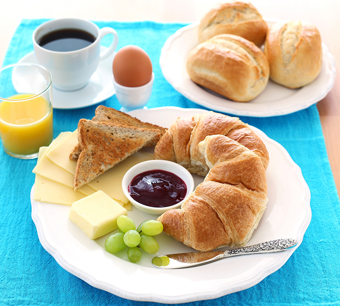 Wallpapers Knife Eggs Juice Powidl Coffee Buns Grapes Cheese 1139x1024
