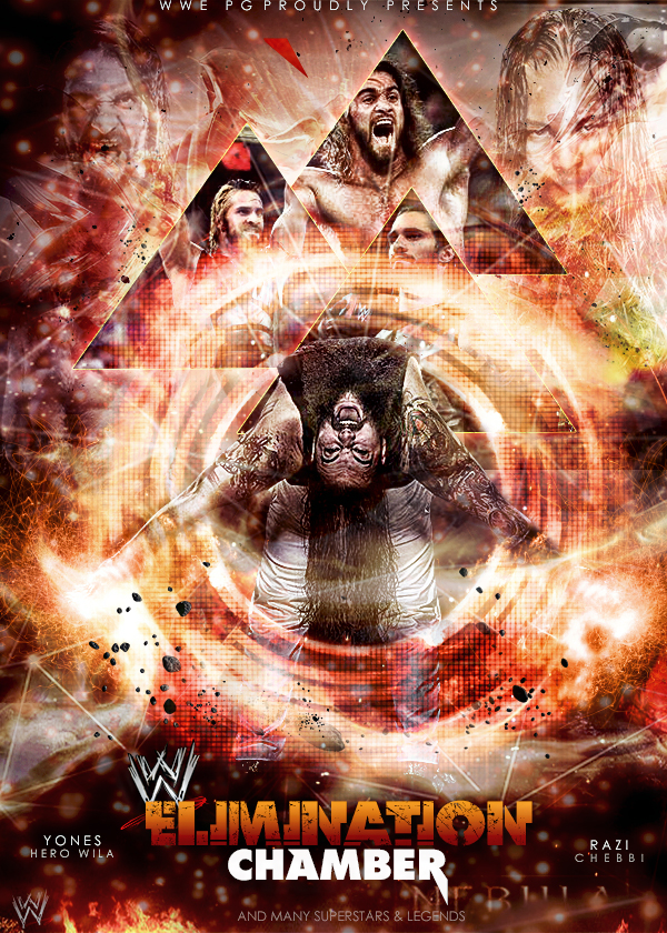 wwe elimination chamber poster ft Ziad Torres by workoutf 600x840