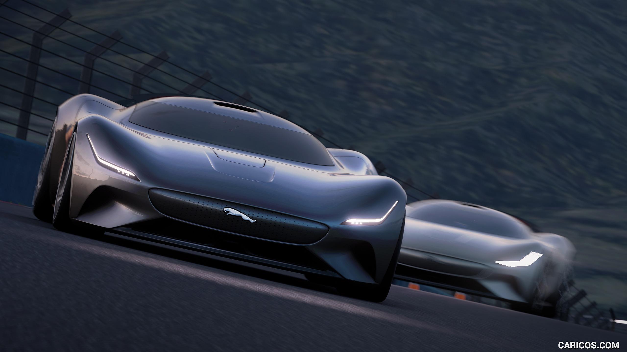 2019 Jaguar Vision Gran Turismo Coup EV Concept   Front HD 2560x1440