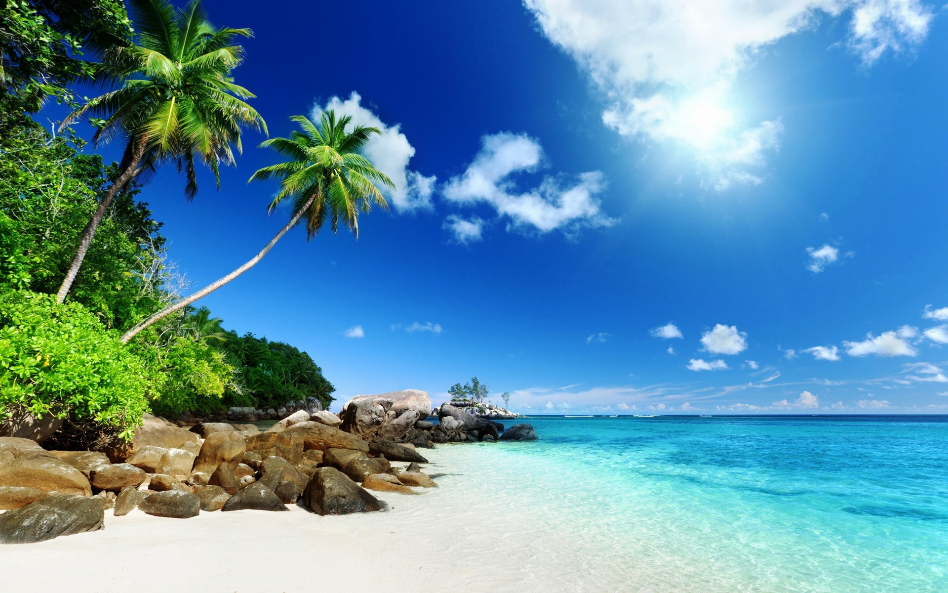nature, Tropical, Island, Clouds Wallpapers HD / Desktop ...