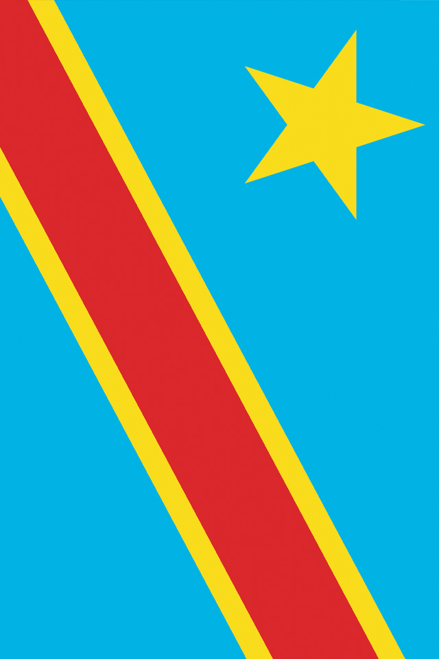 Democratic Republic of the Congo Flag iPhone Wallpaper HD 640x960